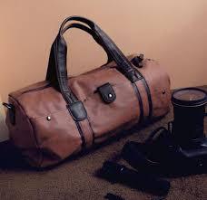 high quality brand men leather travel bag men s vintage duffel bag large capacity gym bag shoulder strap outdoor sport tote 696t