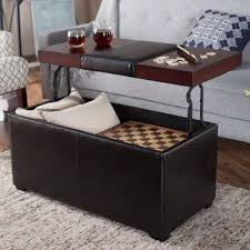 leather coffee table lift top ottoman