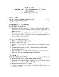 Resume. Paulette Cruz 333 S Twin Oaks Valley Rd, San Marcos, CA 92078 (619  ...