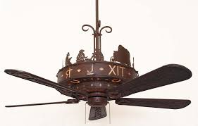 copper canyon western trails ceiling fan kiva select color c146 with silver mica liner