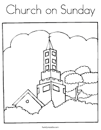 Small Picture Church coloring pages