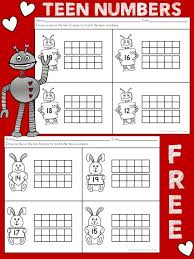 Teen Number Ten Frame Valentine's Day Worksheets | Pin Xmas