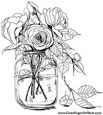 Flower Coloring Sheets Coloring Pages Flowers Printable Flower
