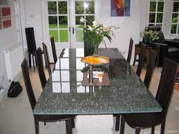 round crackle glass dining table  dining table design ideas