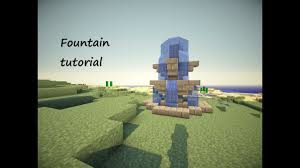 Minecraft Water Fountain Designs Minecraft Tutorial How To Build A Small Fountain Version 2