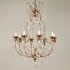 copper crystal chandelier lamp brass chandelier image