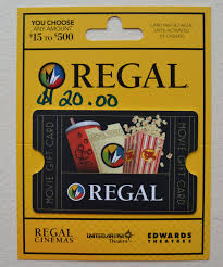 Coupons Giftcards 20 Regal Entertainment Group Gift Card