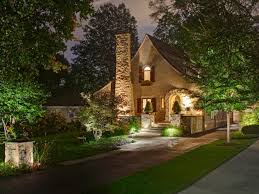 beautiful outdoor lighting fixtures at a stone house