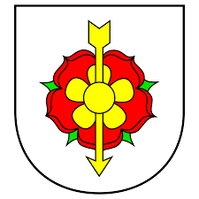 rose symbolism  the rose as a heraldic symbol the coat of arms of ruzomberok in slovakia the town s in literal translation is a hill of roses