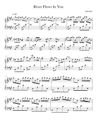 Keyboard sheet music free violin sheet music piano music notes violin music guitar chords for songs piano songs river flows in you song notes song sheet more information. River Flows In You Sheet Music For Piano Solo Musescore Com