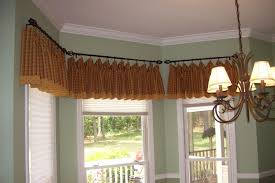 bay window valance attractive home office transitional with brass curtain rods 14 effectcup com