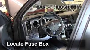 interior fuse box location 2008 2016 toyota sequoia 2012 toyota 2008 toyota tundra kick panel fuse box diagram at Fuse Box Toyota Tundra 2007