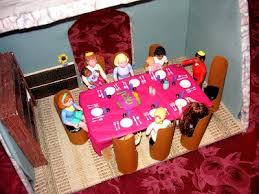 doll furniture recycled materials. Juggling Frogs: How To Make Doll House Dining Room Furniture From Recyclables Recycled Materials O
