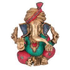 1 5 ft auspicious ganesh statue in brass cap pagdi ganesha brass idol