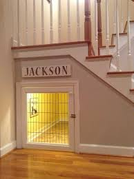 stairs furniture. great use of under stairs storage builtin dog crate furniture i
