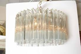 camer murano glass chandelier with venini prisms