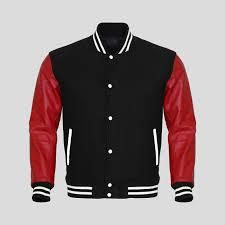 custom varsity jacket leather sleeves