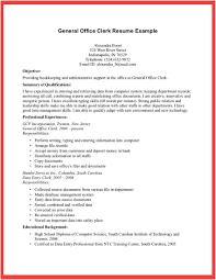 Sample Office Clerk Resume Resume For Your Job Application