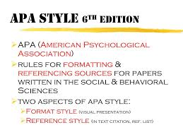 Ppt Apa Style 6 Th Edition Powerpoint Presentation Id2794645