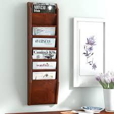 wall hanging magazine rack. Beautiful Hanging Wall Mounted Magazine Rack 7 Pocket Mount  Officeworks Inside Hanging R