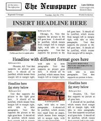 Newspaper Template No Download Designed By A Teacher Newspaper Template Instant Download For