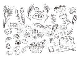 食べ物イラスト線画素材パンイラスト No 1544520無料イラストなら