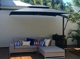 rectangular patio umbrella with solar lights wide rectangular offset patio