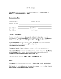 There are three main purposes for the change. Printable Dj Contract Template Templates At Allbusinesstemplates Com