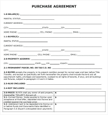 Property Purchase Contract Template Entertaining Form Sale Agreement ...