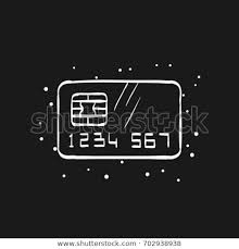 Credit Card Icon Doodle Sketch Lines Stock Vector Royalty Free