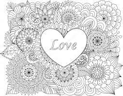 Kleurplaat Hartje Love Archidev Kleurplaten Love You Volwassenen