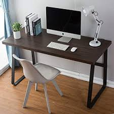 Wood desks for home office Solid Wood Image Unavailable Amazoncom Amazoncom Dyh Vintage Computer Desk Wood And Metal Writing Desk