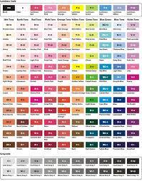 Artist Loft Sketch Markers Color Chart Artist Loft Alcohol Markers Color Chart Www