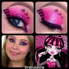 doll makeup tutorial for or cosplay makeup ideas monster high makeup videos draculaura makeup look monster high glitterc