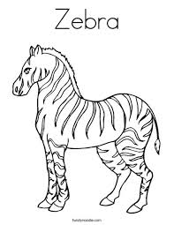 Small Picture Free Printable Zebra Coloring Pages For Kids spesific Zebra