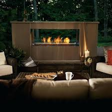 double sided outdoor fireplace napoleon galaxy see thru two sided outdoor linear gas fireplace two sided indoor outdoor wood fireplace