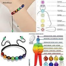 Stylish Essential Oil Diffuser Lava Stone Bracelet Aromatherapy <b>7</b> ...