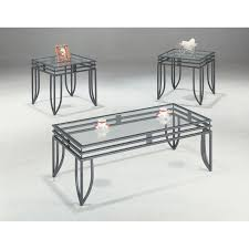 Accent your living room with a coffee, console, sofa or end table. Black 3 Piece Occasional Glass Top Coffee Table Set