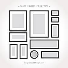 フラットなデザインのフォトフレームテンプレート ベクター画像 無料