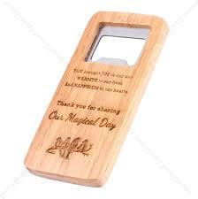 details about engraving beer wooden bottle opener for groomsmen bar ware gift wedding favors
