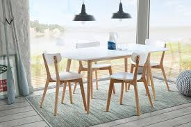 tretton white rectangle dining table with solid oak legs 4x vegard intended for ideas 9