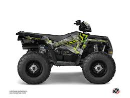 polaris predator 90 green flame atv