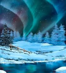 oil painting light the northern lights the northern lights original oil painting oil painting light or