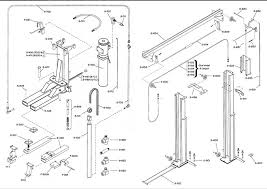 wl model lifts western lift western hoist common wl model car lift parts click for diagram