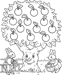 Small Picture Rabbit And Apple Tree Coloring Page Kids Coloring Pages