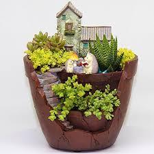 fairy garden pots. Fairy Garden Planter: Indoor And Outdoor Pot Plants Not Included Pots