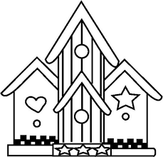 Small Picture Adult houses Coloring Pages Printable birdhouse 8 Free