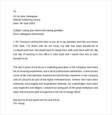 sample farewell letters to coworkers 12 documents in word pdf farewell letter to coworkers farewell letter to coworkers 3