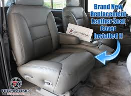 1995 1999 chevy tahoe suburban lt ls leather seat cover passenger bottom gray