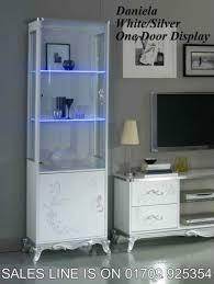 white italian furniture. daniela italian whitesilver 1 door vetrinedisplay cabinet furniture white t